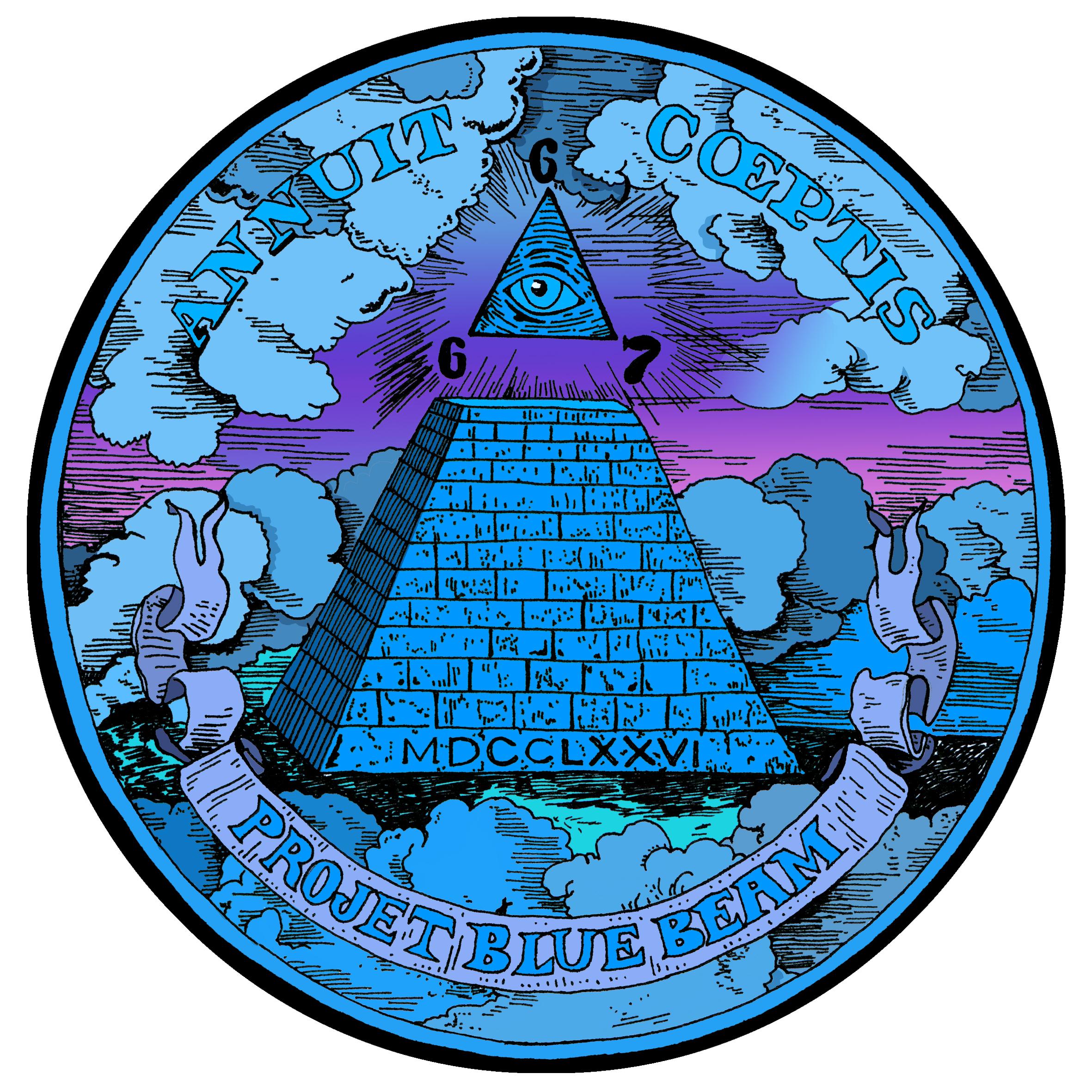 Blue beam logo blanc